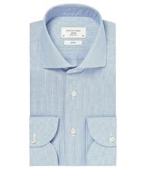 Błękitna koszula męska taliowana, slim fit travel shirt wrinkle free 46