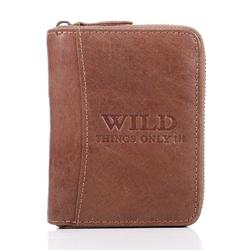 Brązowy portfel męski skórzany