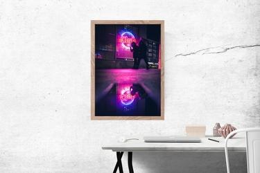 Neon club - plakat premium wymiar do wyboru: 21x29,7 cm