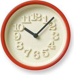 Zegar chiisana tokei czerwony