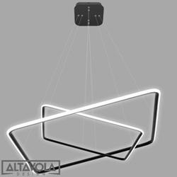 Altavola design :: lampa wisząca lampa ledowe kwadraty no. 4 - czarna