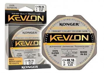 Plecionka kevlon black x4 0,10mm 150m 9,80kg konger