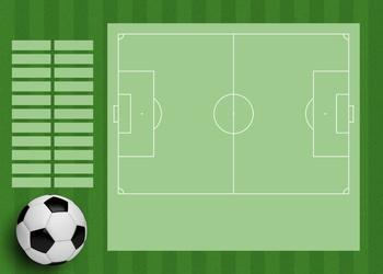 Tablica trenerska taktyczna suchościeralna piłka nożna 390