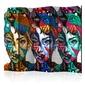 Parawan 5-częściowy - kolorowe twarze ii room dividers