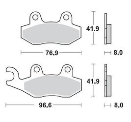 Klocki hamulcowe kh135  kh214 metaliczne: 11 kawasaki: kx 125-250-500, kdx 200-250, suzuki: rm moto-master m091911