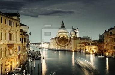 Fototapeta canal grande i bazylika santa maria della salute, wenecja, włochy
