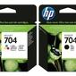 Zestaw tuszów HP 704 KOLOR + CZARNY CN692AECN693AE