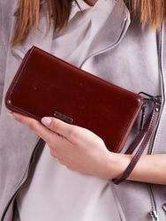 Skórzany portfel damski brązowy lorenti 76119 - brązowy