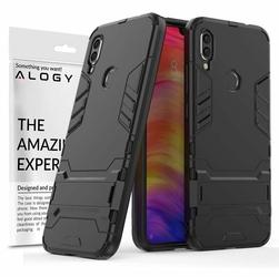 Etui Alogy Stand Armor do Xiaomi Redmi Note 7 Note 7 pro czarne + szkło