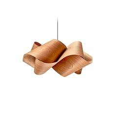 Lzf :: lampa wisząca swirl duża brązowa szer. 75 cm