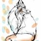 Pastelowy lis - plakat wymiar do wyboru: 70x100 cm