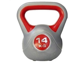 Hantla winylowa bitumiczna kettlebell 14 kg - marbo sport - 14 kg