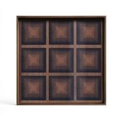 Ethnicraft :: taca dekoracyjna ink square kwadratowa granatowa rozm. l