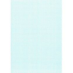 Karton w kratkę - błękitny - błę
