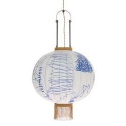 Hk living :: lampa wisząca lampion tradycyjna m niebieska
