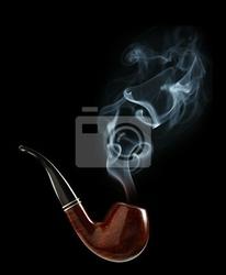 Obraz tytoń fajkowy z dymem