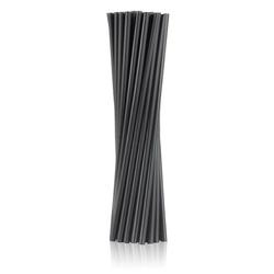 słomki biodegradowalne czarne, proste 150 szt.
