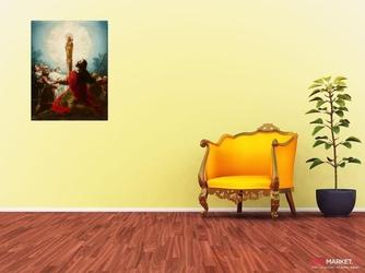 apostoł jakub i jego uczniowie adorujący dziewicę pilar -  francisco goya ; obraz - reprodukcja