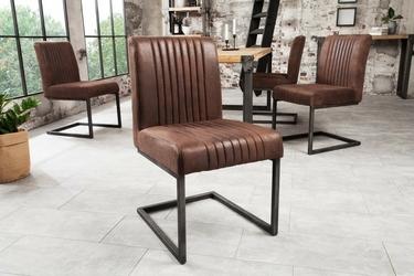Krzesło tapicerowane kosto brązowe