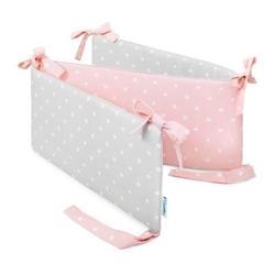 Ochraniacz do łóżeczka - lovely dots  pink  grey