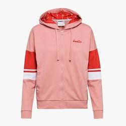 Bluza damska diadora l.hd fz sweat logo - czerwony