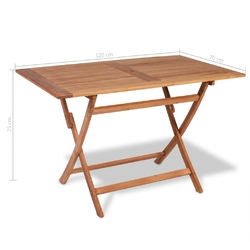 Stół ogrodowy degas 120 cm drewniany