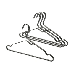 Brabantia - zestaw 4 wieszaków na ubrania, czarny - czarny