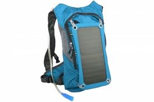 SUNEN PowerNeed - Plecak 8 l z panelem solarnym 7 W i bidonem 1,8 l, niebieski