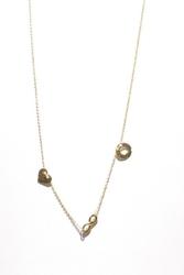 Naszyjnik złoty pr. 585 tzw. celebrytka