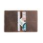 Ciemno brązowy skórzany portfel slim wallet brodrene sw01