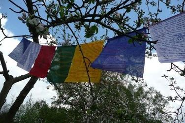 Flagi modlitewne z mantrami długość 270cm
