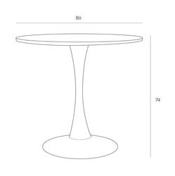 Okrągły stół na jednej nodze skinny 90