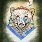 Miś indianin - plakat wymiar do wyboru: 29,7x42 cm