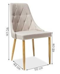 Krzesło tapicerowane do jadalni ritt 2 beżowy