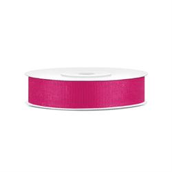 Rypsowa tasiemka 15mm25 m - różowy ciemny - różowy ciemny