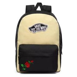 Plecak szkolny vans realm golden haze-black custom rose - vn0a3ui6v5g