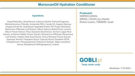 Moroccanoil hydration nawilżający zestaw do włosów 2x70ml + 25ml