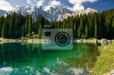 Fototapeta lago di carezza, italia