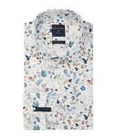 Męska biała koszula w kwiaty extra długa 37