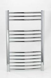 Grzejnik łazienkowy wetherby - elektryczny, wykończenie zaokrąglone, 400x800, chromowany