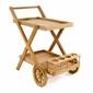 Stolik drewniany barek na kółkach wózek do serwowania potraw divero