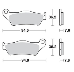 Klocki hamulcowe kh181 metaliczne moto-master m093012