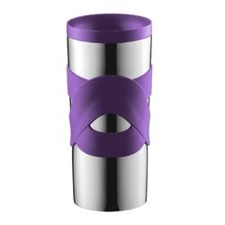 Podróżny kubek termiczny travel mug vacuum, 0.35 l, fioletowy - fioletowy