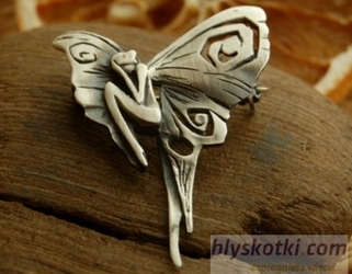 Płaczący elf - srebrny broszko-wisior