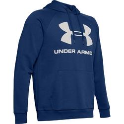 Bluza męska rival fleece sportstyle logo hoodie - niebieski