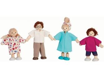 Drewniane laleczki do zabawy w dom