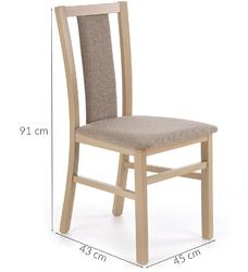 Krzesło do jadalni hubby 3 sonomaszare nowoczesne