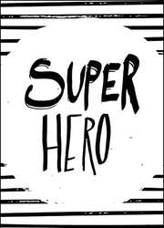 Super bohater - plakat wymiar do wyboru: 21x29,7 cm