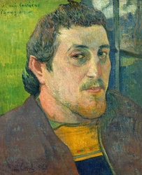 Self-portrait dedicated to carrière, paul gauguin - plakat wymiar do wyboru: 30x40 cm