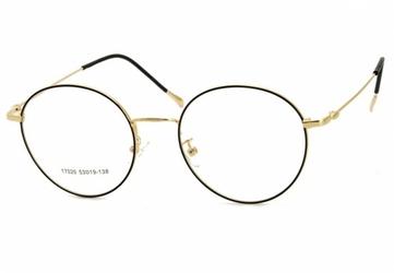 Okrągłe okulary lenonki 17020a złoto-czarne przeznaczone pod korekcję